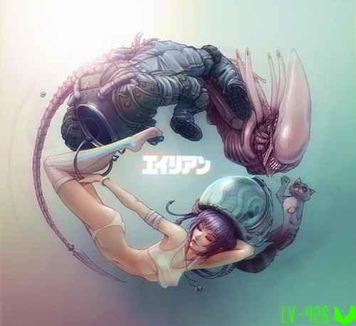 Alien, арт от Krakenkatz