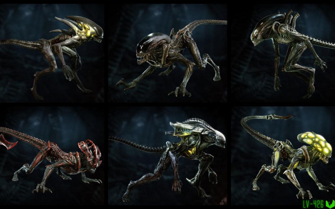 Шесть видов Ксеноморфов из Aliens: Fireteam!